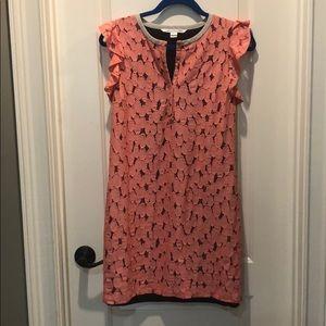 Diane von Furstenberg coral cut out dress